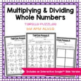 Multiplying Dividing Whole Numbers Tarsia Puzzle