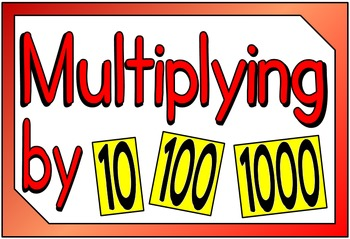 Multiplying & Dividing by 10, 100, 1000 (BUNDLE PACK)