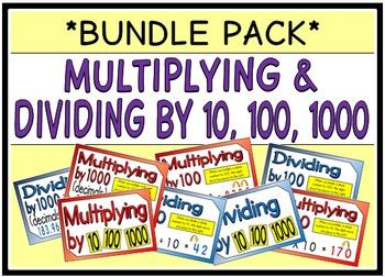 Multiplying & Dividing by 10, 100, 1000 (BUNDLE PACK)