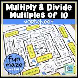 Multiplying & Dividing by Multiples of 10 Worksheet