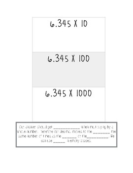 Multiplying/Dividing by Powers of Ten Interactive Notebook