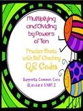 Multiplying & Dividing by Powers of Ten QR Code Practice C