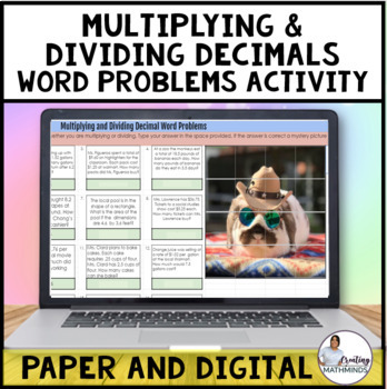 Multiplying & Dividing decimals word problems