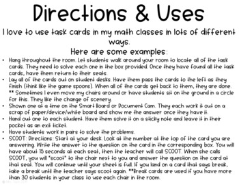 Multiplying & Dividing in Scientific Notation Task Cards
