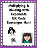 Multiplying & Dividing with Exponents QR Code Scavenger Hunt