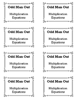 Multiplying  Equations - Odd Man Out