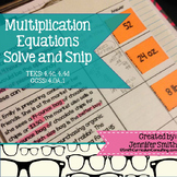 Multiplying Equations Solve and Snip® Interactive Word Problems