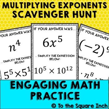 Multiplying Exponents Scavenger Hunt