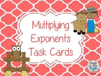 Multiplying Exponents Task Cards