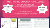 Multiplying Exponents with Power Rule - PowerPoint Lesson and Printables!