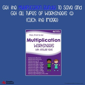 Multiplying Four Digit By Two Digit, Multiplication Worksheets With Answer Keys