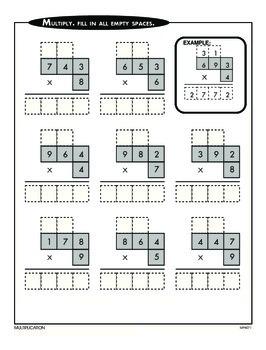 Multiplying Four-Digit Numbers (CCSS 4.NBT.B.5)