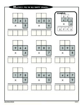 Multiplying Four-Digit Numbers (CCSS 4.NBT.B.5)