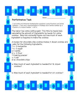 Multiplying Fraction Assessment