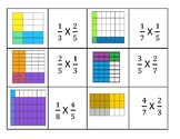 Multiplying Fraction Models Matching