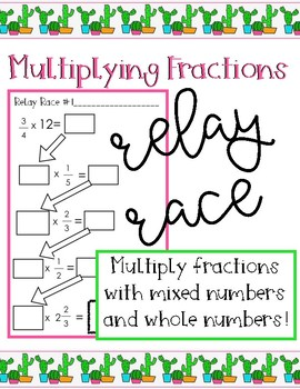 Multiplying Fraction Relay Races