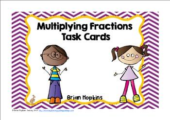 Multiplying Fraction Task Cards