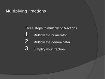 Multiplying Fraction and Multiplying Fractions by a Whole Number