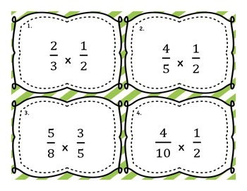 Multiplying Fraction by Fraction Differentiated Word Problem Task Cards
