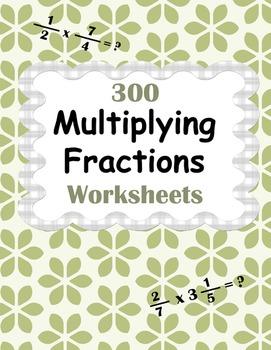 Multiplying Fractions Worksheets - Proper, Improper & Mixe