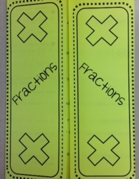 Fractions - Multiplying Foldable