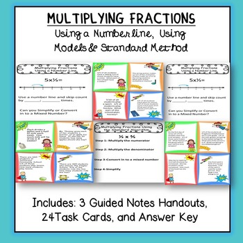 Multiplying Fractions: Task Cards