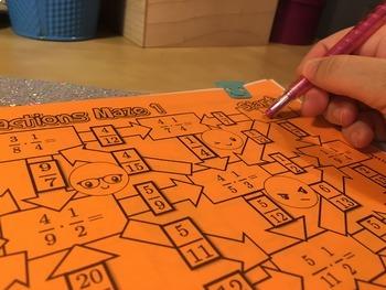 Multiplying Fractions Maze Activity