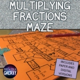 Multiplying Fractions Maze Activity