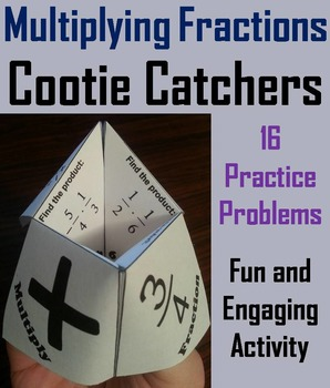 Multiplying Fractions Practice Activity Game for 4th 5th 6th Grade