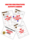Multiplying Fractions Worksheet Packet with Instructional Pages and Certificate