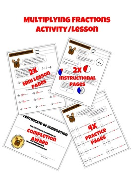 Multiplying Fractions Worksheet Packet with Instructional