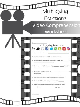 Multiplying Fractions:  Video Comprehension Worksheet