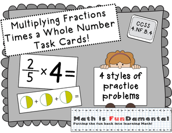 Multiplying Fractions - 4 styles of practice