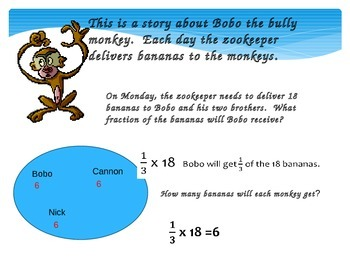 Multiplying Fraction Word Problems 5.NF.4a