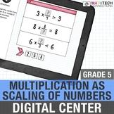 Fraction Multiplication as Scaling - 5th Grade Interactive Digital Math Center