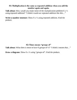 Multiplying Fractions - 6th Grade Common Core