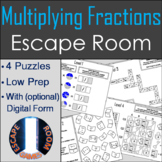 Multiplying Fractions Activity: Escape Room Math