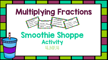 Multiplying Fractions: An interactive Smoothie Shoppe Activity