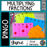 Multiplying Fractions BINGO Math Game