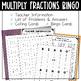 Multiplying Fractions BINGO Math Game