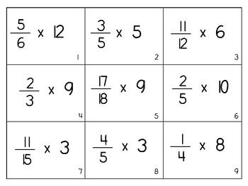 Multiplying Fractions BOOM! Level 1