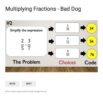 Multiplying Fractions – Bad Dog Breakout for Google Classroom!