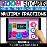 Multiplying Fractions Boom Cards Grade 5 | Distance Learning