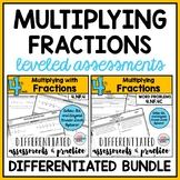 Multiplying Fractions Bundle {Differentiated Assessments}