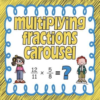 Multiplying Fractions Carousel