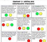 Adding and Subtracting Fractions Choice Board