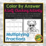 Multiplying Fractions Color By Answer Worksheet