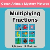 Multiplying Fractions - Color-By-Number Math Mystery Pictures