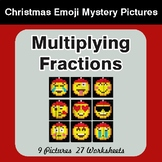 Multiplying Fractions - Color-By-Number Christmas Mystery Pictures