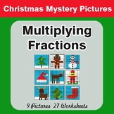 Multiplying Fractions - Color-By-Number Christmas Math Mystery Pictures